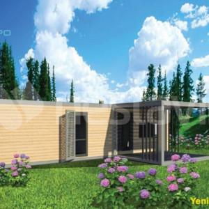 Modular Prefab Tiny Home House Nestavilla Sardinia 42 m2