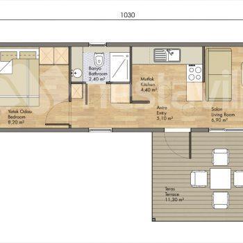 Modular prefab house nvilla sardinia 42 m2