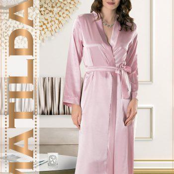 Wholesale export turkey women nightgown satin long robe yeniexpo 16