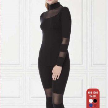 Ladies high rise full length leggings with  matching long sleeveshirt 127  s-xl