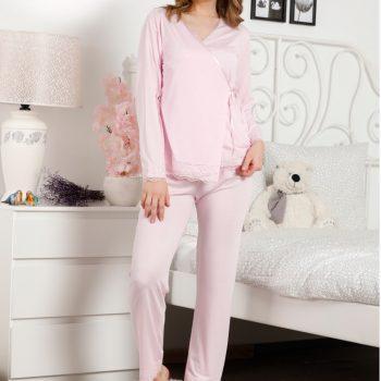 Women comfortable soft cotton sleepwear top long pants pajamas sets 3620 s- xl (copy) (copy) (copy)
