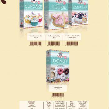 Delicious  vanilla cup cake flour mix 350 gr 1202918
