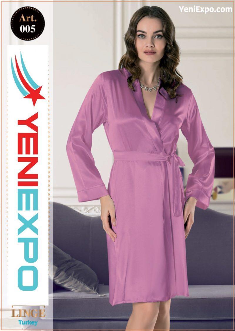 Women silky soft satin long nightgown robe 007 s – xl (copy)