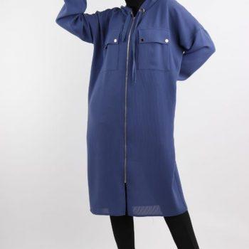 Women chic long sleeve long length jacket 38-48 jk 5559
