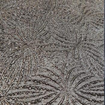 Fancy jacquard textile shiny grey