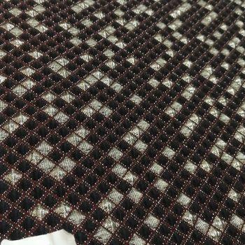 Metallic jacquard textile fabric m