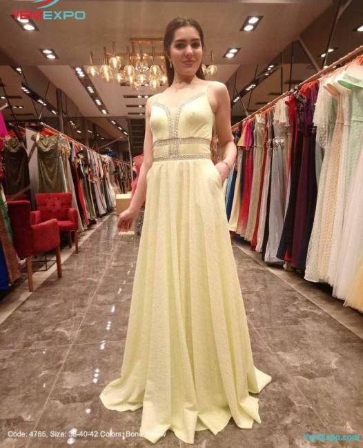 Long prom evening dress gown haute