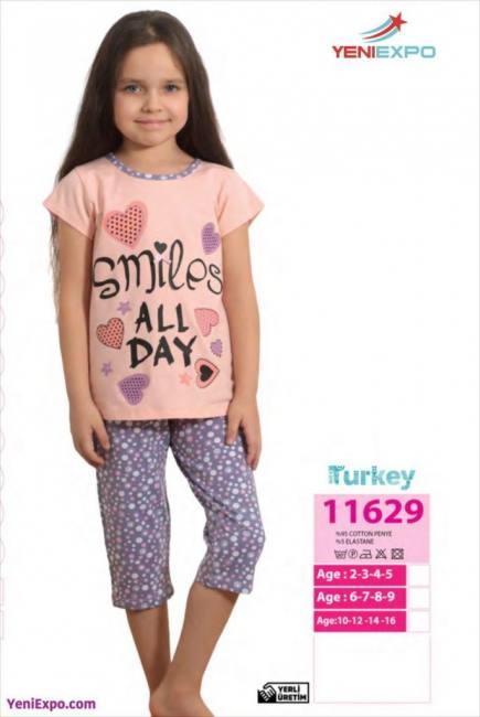 Girls cute soft cotton pajama set