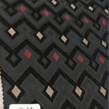 Jacquard textile fabric mixed colo