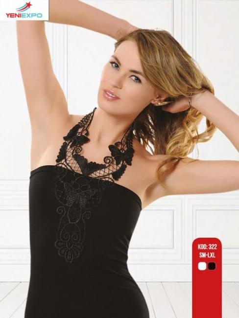 Women chic stylish embroidered  el