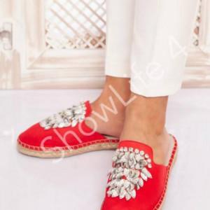 ShowLife Rhinestone Bling Decorated Women Flat Slippers