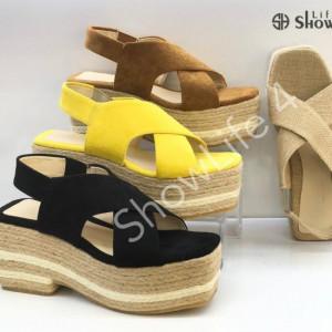 ShowLife Summer Women Sandals Open Toe Casual Platform Wedges Shoes Ankle Strap