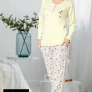 Yeniexpo women lady soft comfy sleepwear pajama6