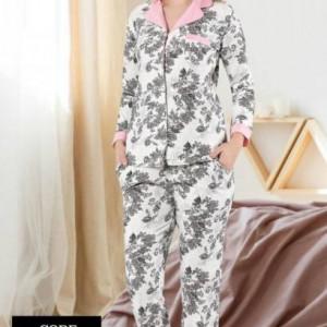 Yeniexpo women lady soft comfy sleepwear pajama8