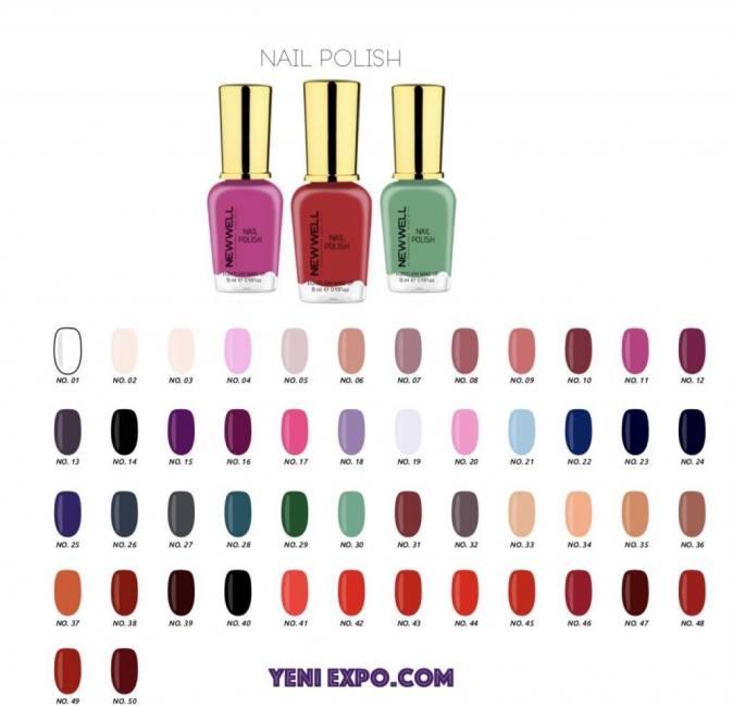 Amazing beauty  colorful nail poli