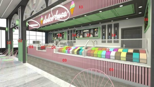 Top ice cream parlor design and co