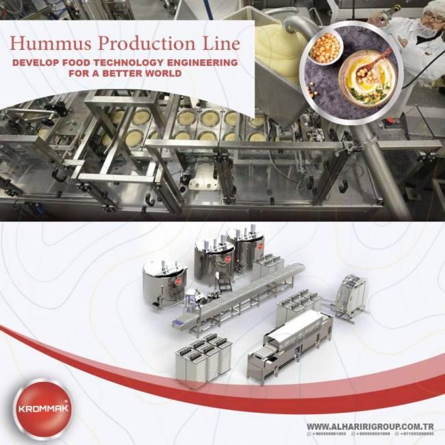 Hummus filling lines al hariri group alharirigrup yeniexpo exporter