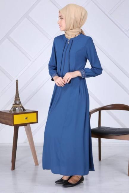 New zippered abaya dress fashion m