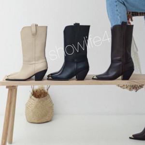 Sharp Womens Cowboy BOOTS Snip Tow ShowLife4 Autumn Top Style