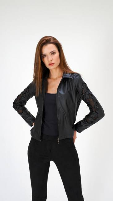 Leather short jackets charming wow