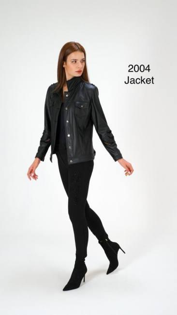 Leather jacket stylish casual blac