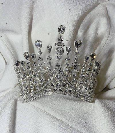 Wedding crown rhinestone tiara wom