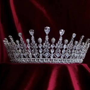 Lydia Zirconium Stones Gorgeous Royal Crown Tiara 2021