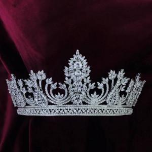 Cordelia Stylish Zirconium Stones Gorgeous Royal Crown Tiara 2020