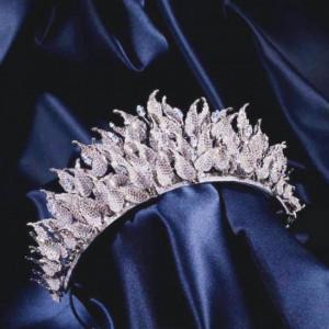 High Quality Wedding Tiaras Stylish Modern Zirconium Stones NEW 2020 KNZ14