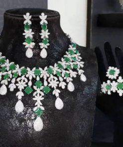 Florence bridal green royal jewell