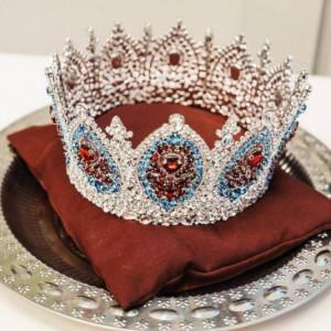 Miss Tourism Russia Gorgeous Crown Elegant CZ Cubic Zirconia Stones NEW 2020 KNZ19
