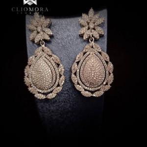Influential Cliomora Earrings CZ Cubic Zirconia ZKE75