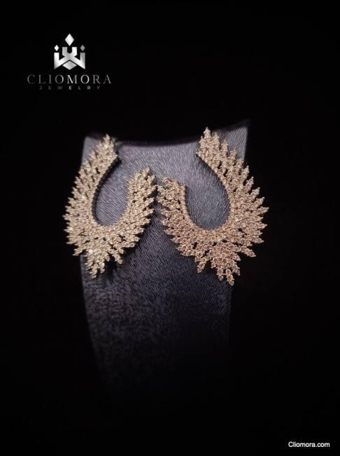 Charismatic cliomora earrings cz c