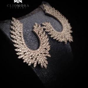 Charismatic Cliomora Earrings CZ Cubic Zirconia ZKE74