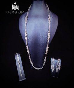 Incredible cliomora jewelry set cz