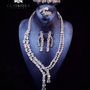 Exceptional Cliomora Jewelry Set CZ Cubic Zirconia ZKS61