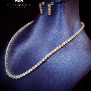 Trendy Jewelry Set Cliomora CZ Cubic Zirconia ZKS56