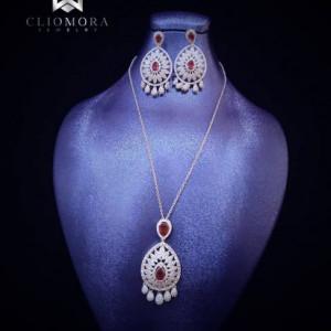 Royal Jewelry Set Cliomora CZ Cubic Zirconia ZKS54