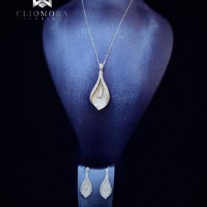 Delightful Jewelry Set Cliomora CZ Cubic Zirconia ZKS53