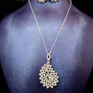 Lavish Jewelry Set Elegant Cliomora CZ Cubic Zirconia ZKS51