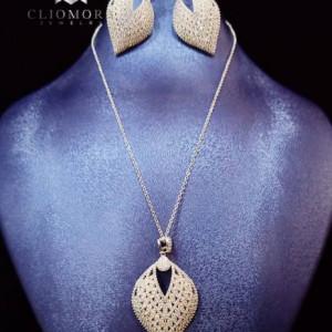 Dazzling Jewelry Set Gorgeous Cliomora CZ Cubic Zirconia ZKS49