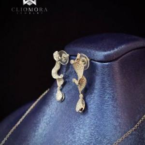 Striking Jewelry Set Rare Cliomora CZ Cubic Zirconia ZKS48