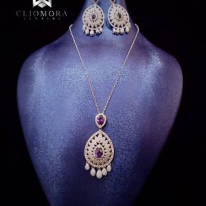 Marvelous Jewelry Set Cliomora CZ Cubic Zirconia ZKS47