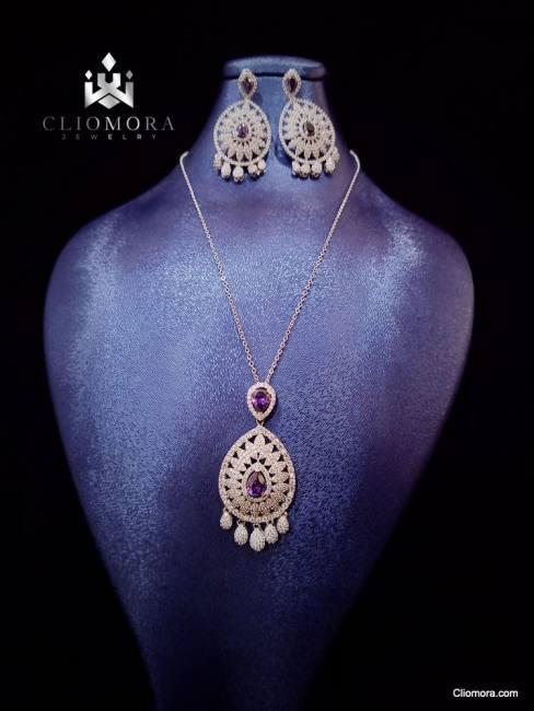 Marvelous jewelry set cliomora cz