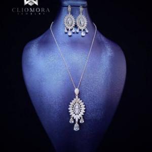 Jewelry Set Dramatic Cliomora CZ Cubic Zirconia ZKS46