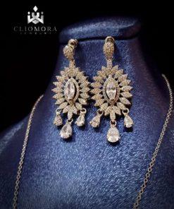 Jewelry set dramatic cliomora cz c