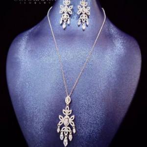 Jewelry Set Eye Catching  Cliomora CZ Cubic Zirconia ZKS45