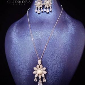 Jewelry Set Impressive Cliomora CZ Cubic Zirconia ZKS44