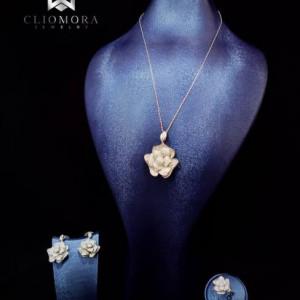 Jewelry Set Peculiar Cliomora CZ Cubic Zirconia ZKS43