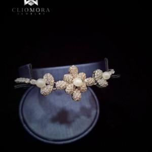 Offbeat Bracelet Erratic Cliomora CZ Cubic Zirconia ZKB41